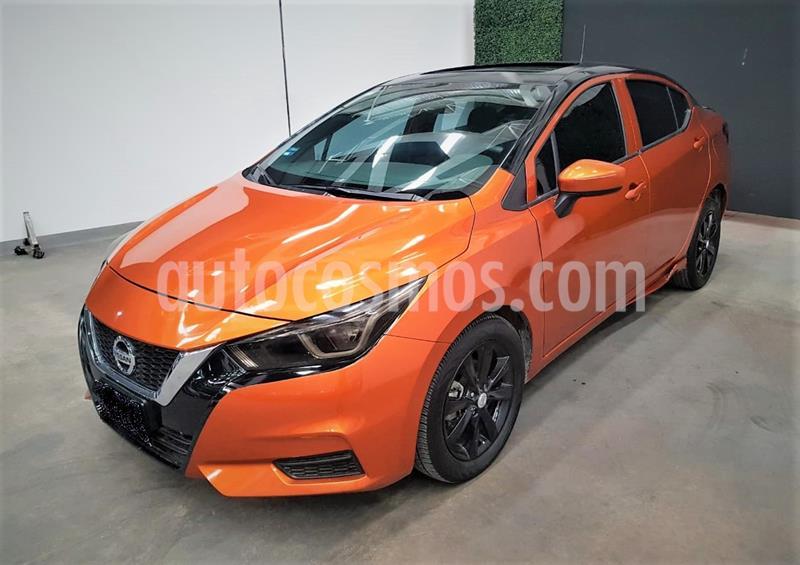 Nissan Versa Sense usado (2020) color Naranja precio $239,999