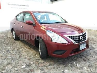 Foto venta Auto Seminuevo Nissan Versa SENSE TM (2017) color Rojo Burdeos precio $178,000