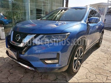 Nissan X-Trail 5p Exclusive 3 L4/2.5 Aut Banca abatible usado (2018) color Azul precio $395,000
