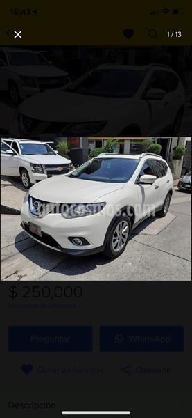 Nissan X-Trail Exclusive 3 Row usado (2015) color Blanco precio $250,000
