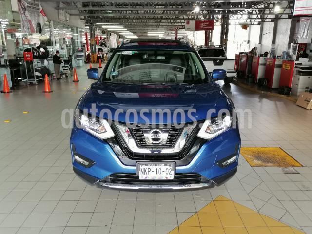 Nissan X-Trail 5P EXCLUSIVE CVT PIEL CD QC GPS 7 PAS. RA-18 4X4 usado (2019) color Azul precio $429,000