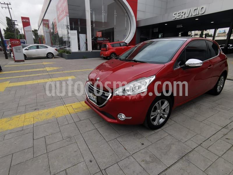 Peugeot 208 1.6L Feline 3P  usado (2016) color Rojo precio $159,000