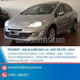 Foto venta Auto usado Peugeot 408 Allure Aut NAV (2014) color Gris Claro