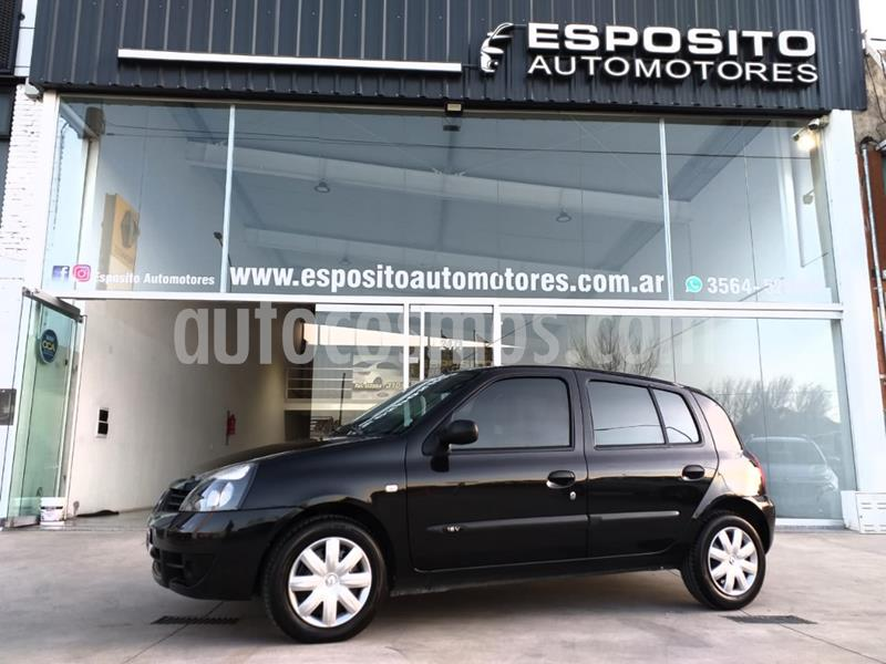 Renault Clio 5P 1.2 Bic Authentique Pack usado (2009) color Negro precio $395.000
