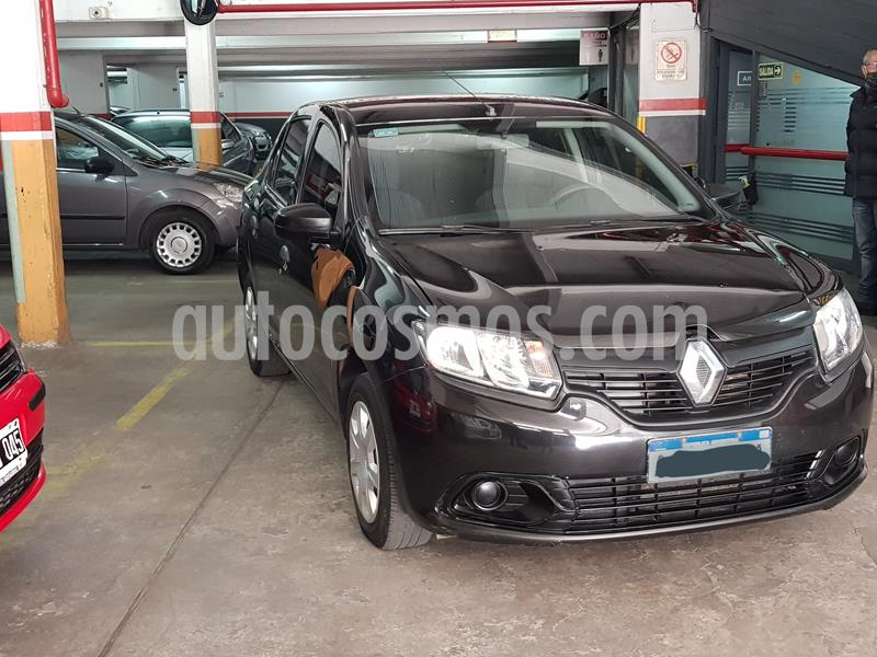Renault Logan 1.6 Authentique usado (2017) color Negro precio $610.000