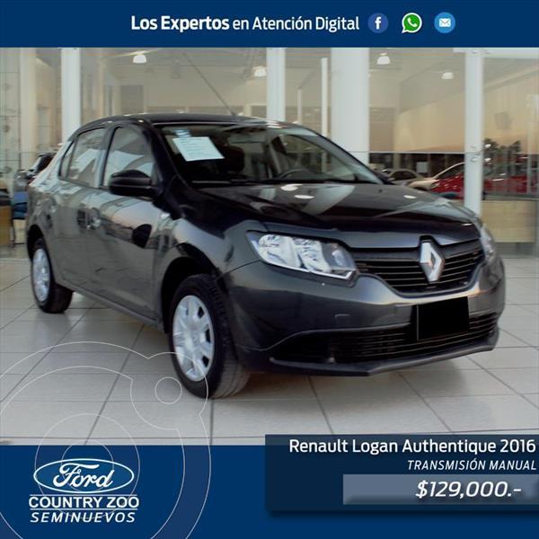 Foto Renault Logan AUTENTIQUE usado (2016) color Gris precio $129,000