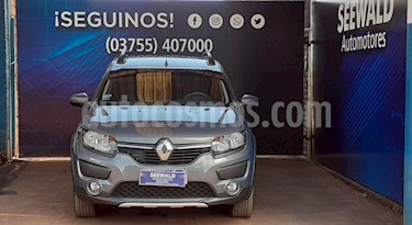 Renault Sandero - usado (2017) color Gris Oscuro precio $655.000