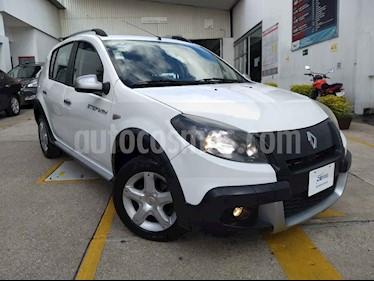 Foto venta Auto usado Renault Sandero Dynamique Aut (2014) color Blanco precio $120,000