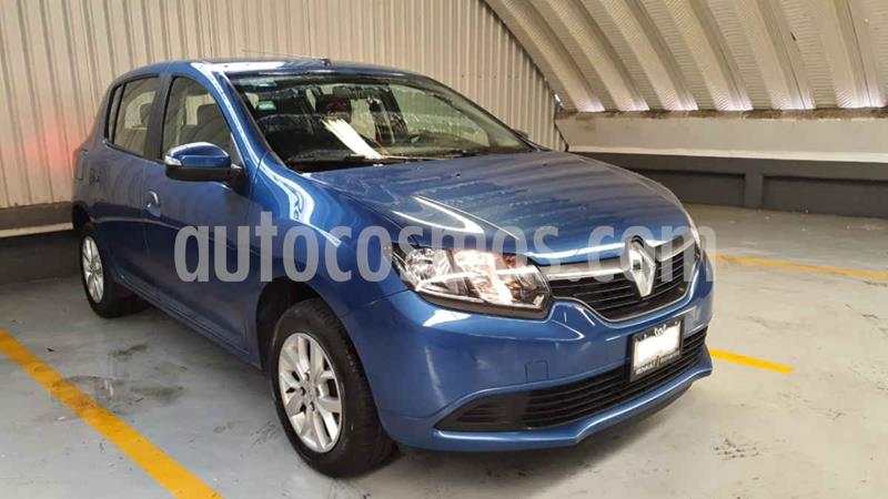 Renault Sandero Expression Aut usado (2017) color Azul precio $139,000