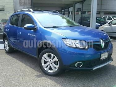 Renault Sandero 5P INTENS L4/1.6 AUT usado (2018) color Azul precio $190,000