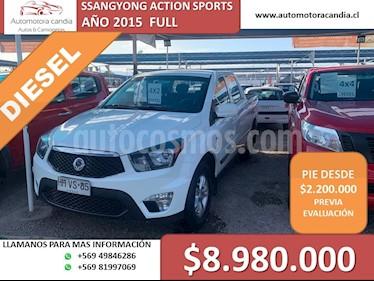 SsangYong Actyon Sports 2.0L 4x2 Full Diesel usado (2015) color Blanco precio $8.980.000