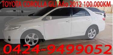 Foto venta carro usado Toyota Corolla GLi 1.8L Aut (2012) color Blanco precio u$s12.000