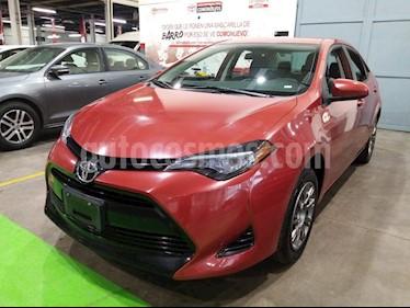 Toyota Corolla Base Aut usado (2017) color Rojo precio $220,000