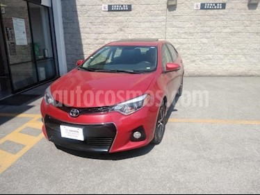 Toyota Corolla 4P S TM6 A/AC. BL F. NIEBLA QC ALERON RA-16 usado (2015) color Rojo precio $180,000
