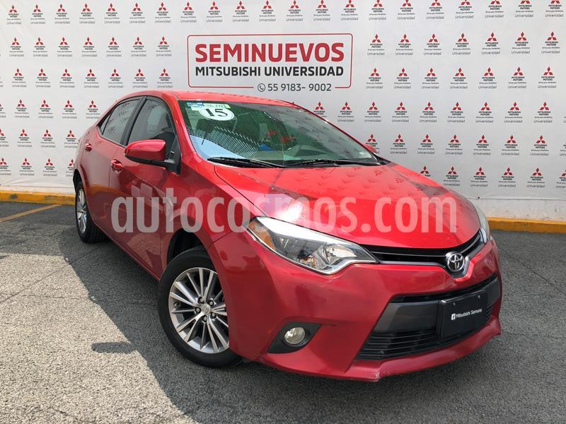 Toyota Corolla LE 1.8L Aut usado (2015) color Rojo Mica precio $175,000