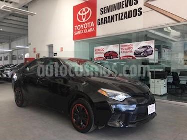 Toyota Corolla 4P BASE AT A/AC. BA R-16 usado (2016) color Negro precio $155,000