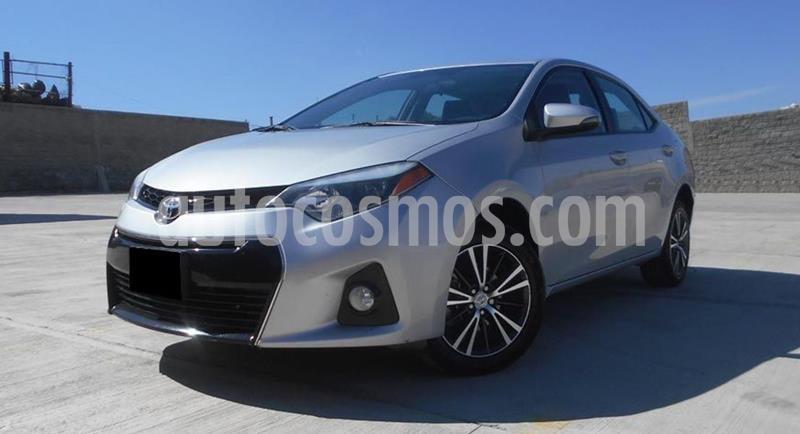 Toyota Corolla S 1.8L  usado (2016) color Plata precio $209,000