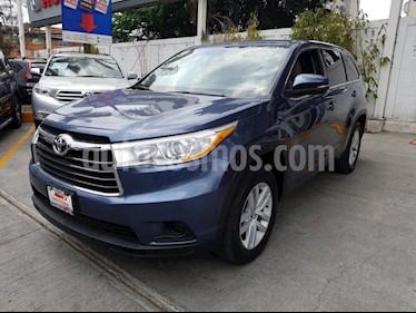 Toyota Highlander LE usado (2016) color Azul precio $335,000