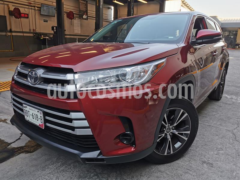 Toyota Highlander LE usado (2018) color Rojo precio $435,000