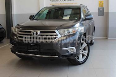 Toyota Highlander 5p Base premium sport aut a/a q/c piel usado (2012) color Gris precio $200,000