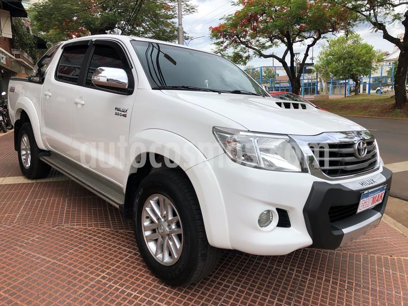 Toyota Hilux 3.0 4x2 SRV TDi DC Cuero usado (2013) color Blanco precio $2.499.990