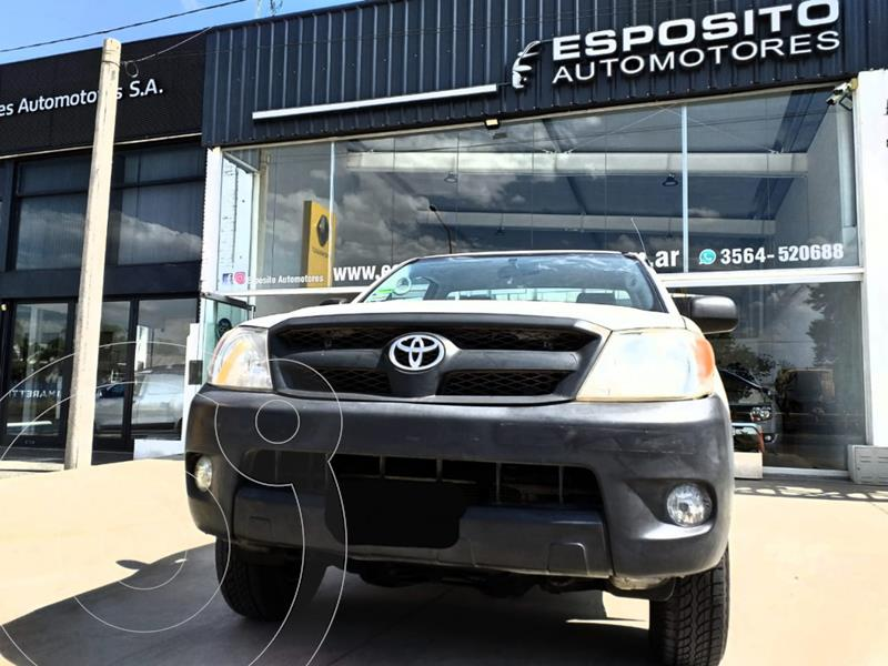 Toyota Hilux 2.5 4x2 DX DC usado (2008) color Blanco precio $1.360.000
