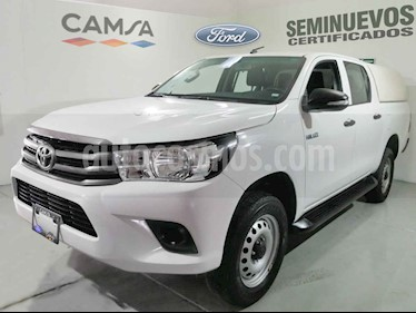 Toyota Hilux 4p Doble Cabina Base L4/2.7 Man usado (2016) color Blanco precio $279,900