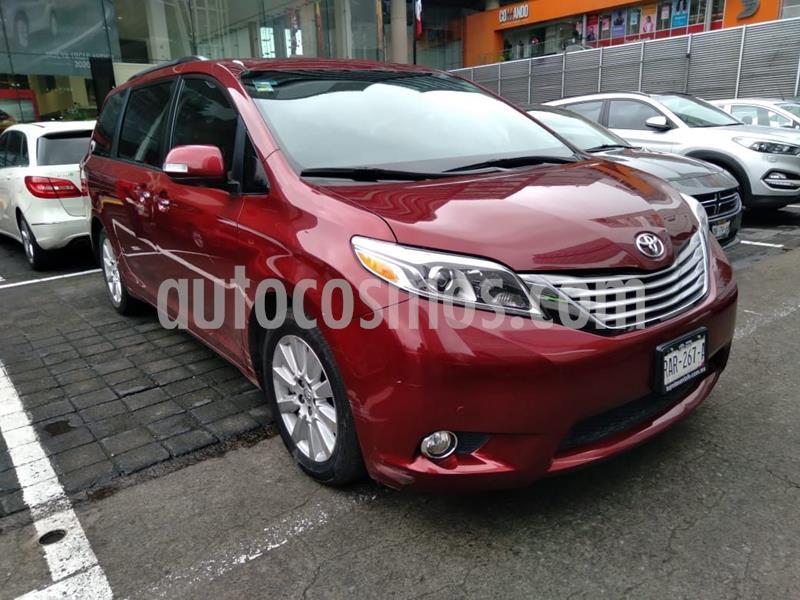 Toyota Sienna Limited 3.5L usado (2017) color Rojo precio $550,000