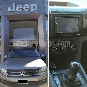 Volkswagen Amarok DC 4x2 Highline (180Cv) usado (2012) color Gris Oscuro precio $990.000