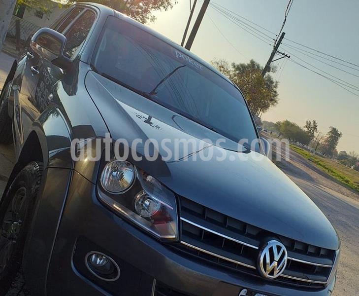 Volkswagen Amarok DC 4x2 Highline (180Cv)  usado (2014) color Gris precio $2.180.000