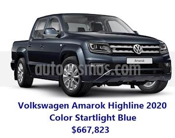 Volkswagen Amarok Highline Aut 4Motion 2.0L nuevo color Azul Starlight precio $667,823