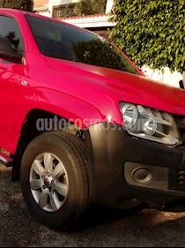 Volkswagen Amarok Startline 4x4 TDi usado (2014) color Rojo Tornado precio $320,000