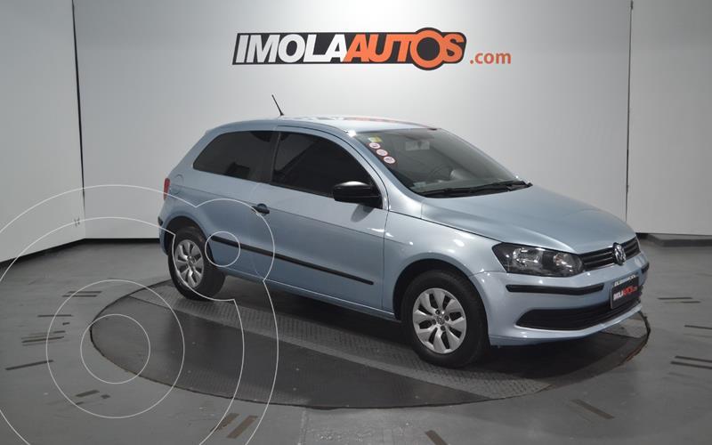 Volkswagen Gol Trend 3P Trendline usado (2015) color Celeste precio $740.000