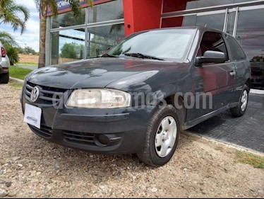 Foto venta Auto Usado Volkswagen Gol 3P 1.6 Power Plus (2008) color Gris Oscuro