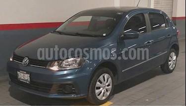Volkswagen Gol 5P HB TRENDLINE TM5 A/AC. R-14 usado (2018) color Azul precio $164,000