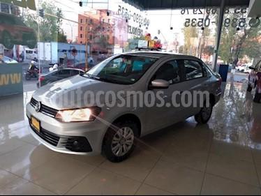 Volkswagen Gol 4P TRENDLINE TM5 A/AC. R-14 usado (2017) color Plata precio $129,000