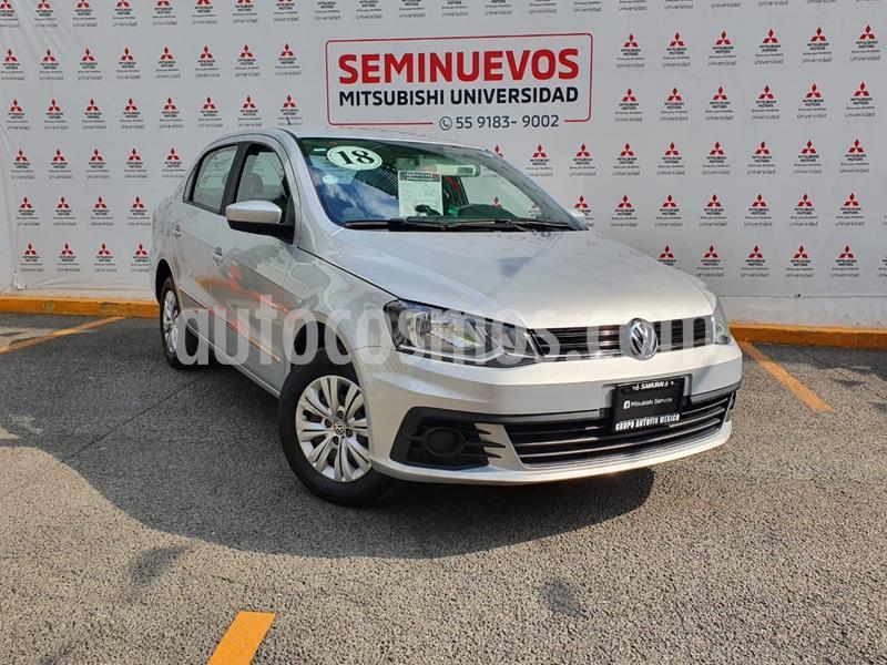 Volkswagen Gol Trendline usado (2018) color Gris Platino precio $160,000