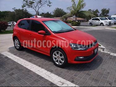 Volkswagen Polo Hatchback 1.2L TSI Aut usado (2017) color Rojo Flash precio $196,000