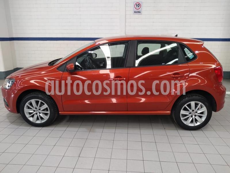 Volkswagen Polo 1.6L Base 4P usado (2018) color Naranja precio $181,400