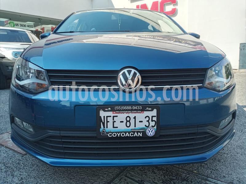 Volkswagen Polo 1.6L Base 5P Ac usado (2018) color Azul precio $169,000