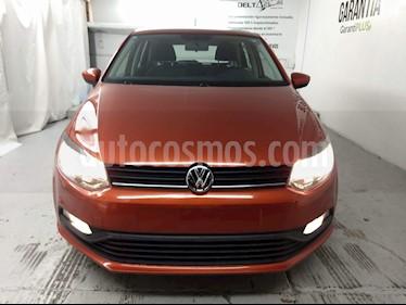 Volkswagen Polo 1.6L Base 5P usado (2018) color Naranja precio $185,000