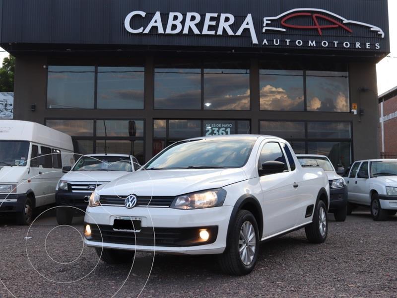Volkswagen Saveiro 1.6 Cabina Extendida Pack +Seg+High My15 usado (2014) color Blanco precio $1.100.000