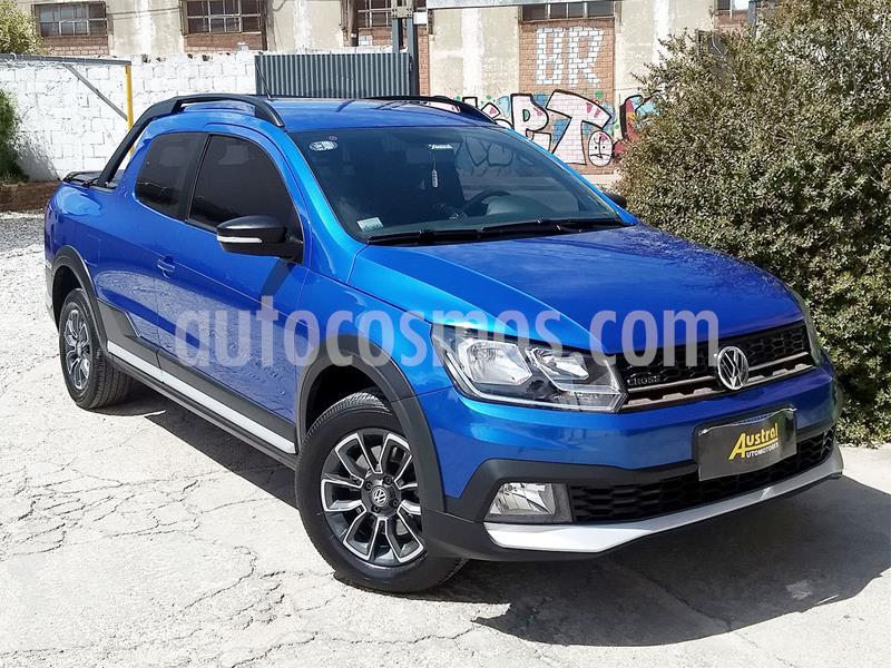 Volkswagen Saveiro 1.6 Cross usado (2017) color Azul Ravenna precio $800.000