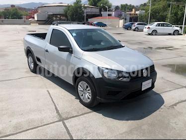 Volkswagen Saveiro Robust (Cabina Sencilla) A/A usado (2019) color Plata precio $210,000