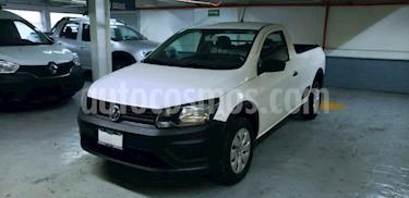 Volkswagen Saveiro 2p Starline L4/1.6 Man A/A usado (2018) color Blanco precio $199,000