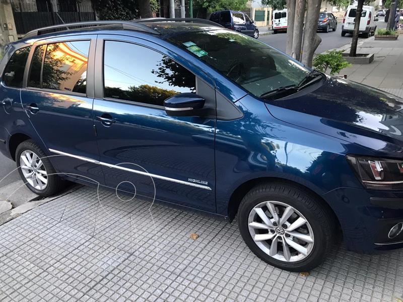 Volkswagen Suran 1.6 Highline Cuero usado (2015) color Azul Starlight precio $1.080.000
