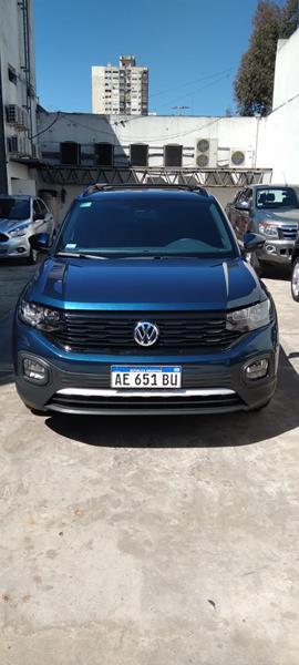 Foto Volkswagen T-Cross Comfortline Plus Aut usado (2021) color Azul precio $3.350.000