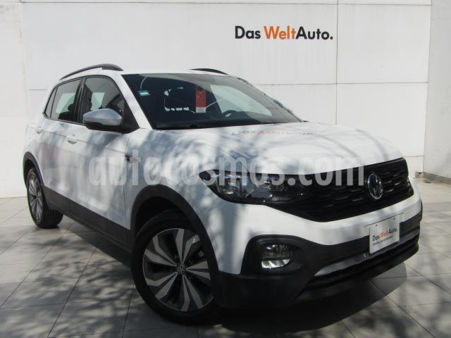 Volkswagen T-Cross Comfortline Aut. usado (2020) color Blanco precio $365,000