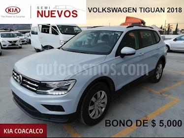 Foto venta Auto usado Volkswagen Tiguan 5p Trendline 1.4 L4/1.4/T Aut (2018) color Plata precio $329,000