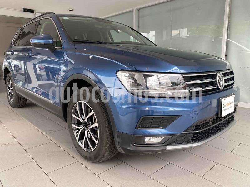 Volkswagen Tiguan Comfortline 5 Asientos Piel usado (2018) color Azul precio $380,000